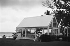 Seaside Chapel (robinguymer) Tags: chapel seaside noumea newcaledonia nikonfe2 film bw caffenol