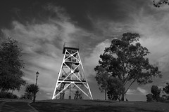 Poppet Head (GS_Imagery) Tags: cobweb sun australia bendigo metal