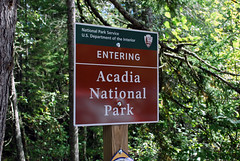 Acadia National Park (Phil Spell) Tags: nikon nikond60 maine usa northamerica unitedstates outdoor acadianationalpark mountdesertisland nationalpark nature trees plants signpost