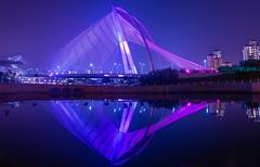 Putrajaya Bridge (one2_shafiq) Tags: bridge purple longexposure water sky cityscape