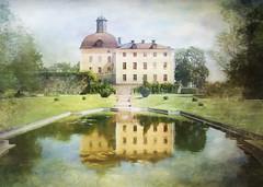 Symmetry . (BirgittaSjostedt) Tags: castle park paint old history architecture building outdoor painting texture sweden birgittasjostedt magicunicornverybest ie netart artdigital