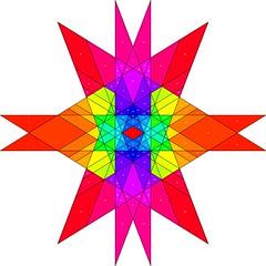 Rhombic Triacontahedron Stellation Map (powerofankur) Tags: stellation polyhedron rhombic triacontahedron geometry matlab mathematics texture polygon