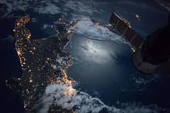 Space Station Flight Over the Southern Tip of Italy (NASA's Marshall Space Flight Center) Tags: nasa nasasmarshallspaceflightcenter nasamarshall marshall internationalspacestation iss space italy naples lights