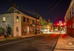 365-289 ( estatik ) Tags: 365289 365 289 august292016 aug 82916 mon monday night long exposure bucks county newtown state street inn pub tavern historic blackhorse starbucks traffic light lights red sidewalk