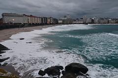 A Corua (claudiagomlop) Tags: corua city ciudad vsco vscocam galicia ocean water waves oceano agua playa beach storm tormenta winter