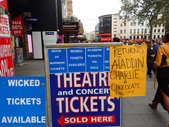 2016_09_030006 - Wicked Tickets (Gwydion M. Williams) Tags: britain greatbritain uk england london centrallondon leicestersquare humor humour funny theatre