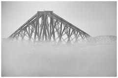 Forth Bridge Inversion (Tom_Drysdale) Tags: rail queensferry bridge inversion mist fuji fujifilm south 2016 fog september forth
