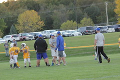 1483 (bubbaonthenet) Tags: 09292016 game stma community 4th grade youth football team 2 5 education tackle 4 blue vs 3 gold
