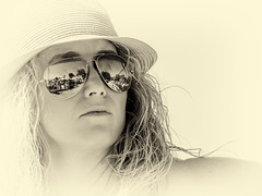 surfer_girl (gerhil) Tags: people portrait lifestyle woman outdoor naturallight interpretation artistic environmental location monochrome summer september2016 niksilverefexpro2 event candid digitalart surreal photoillustration 1001nights gesture attitude 1001nightsmagiccity