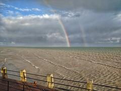 Double Rainbow off Worthing Pier (Ian Campsall) Tags: worthing nexus6p rainbow doublerainbow englishseaside greatbritian