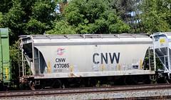 CNW (RickM2007) Tags: cnw cnwhoppercar chicagonorthwestern grainhoppercar hopper cnwtrain norfolksouthernrailroad