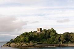 The ruins of Dunollie Castle in the evening sun (Journeyman of Words) Tags: clouds oban schottischehighlands sky uk water summer dunolliecastle ruin sea argyll highlands scotland evening lowsun