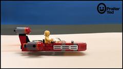 Lego X-34 Landspeeder Profile (Praiter Yed) Tags: legomoc starwarsepisodeivanewhope x34landspeeder tatooine lukeslandspeeder lukeskywalker