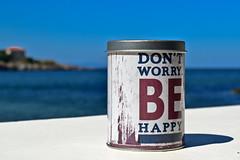 BE HAPPY :) (Angelina Ra) Tags: nikon d3100 happy sea sky blue macro sozopol aloha beach bar