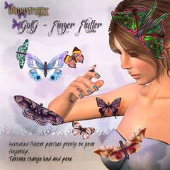 [UN] Finger Flutter - Gift of the Gaurdians! (UnrepentantSL) Tags: gacha gatcha secondlife sl unrepentant butterfly nature animated mesh whisperedwings vr corset victorian sexy lingerie breast avatar gachagaurdians gg maitreya lara fitted rigged