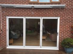 bi folding doors nottingham (The Nottingham Window Company) Tags: nottingham window company windows doors conservatories aluminium aluk cream light oak upvc bi folding bifolds