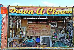 Down a Clown (Robert S. Photography) Tags: games attractions coneyisland carnival coneyartwalls nyc brooklyn amusementpark nikon coolpix l340 iso80 september 2016
