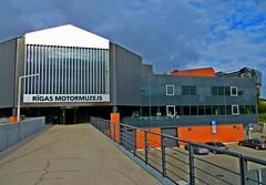 Riga Motor Museum in Mezciems area of Riga, Latvia. September 22, 2016 (Aris Jansons) Tags: building museum riga motormuseum latvia latvija city capital rga 2016 europe baltic facade