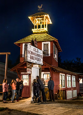 Old Schoolhouse Brewery and Pub (cooler than h2o) Tags: oldschoolhousebrewery winthrop washington methowvalley stars nightscene