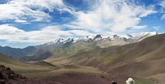 Looking back to Gyang Poche from Mato La pass (Miche & Jon Rousell) Tags: sky india clouds trekking pass himalaya ladakh basecamp stokkangri matola shangla gyangpoche