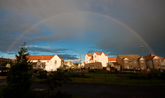 Rainbow over Wallyford (Duthieboy) Tags: baby daughter photoblog 2012 photojournal lilyeve blogjournal