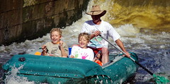 9.8.12 Vyssi Brod Weir 6 099 (donald judge) Tags: river kayak republic czech south canoe raft bohemia vltava brod weir vyssi