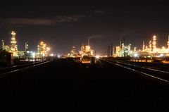Midnight City (Industrial Relics Photography) Tags: city train river photography for long exposure industrial commerce tracks msp denver dont hardcore oil spill refinery relics ask urbex handouts dontaskforhandouts