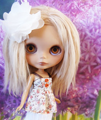 Miss Natalia amoung the blossoms x x
