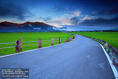 (nodie26) Tags: sky sun color field sunrise star tour rice paddy farm taiwan