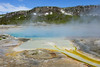 Biscuit Basin (bhophotos) Tags: travel blue usa white nature colors pool yellow landscape geotagged nikon yellowstonenationalpark yellowstone wyoming hotspring thermal ynp wy runoff sapphirepool biscuitbasin d700 1635mmf4gvrii bruceoakley