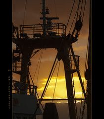 Sunset Silhouette (Greet N.) Tags: sunset silhouette friesland harlingen habour fishingship