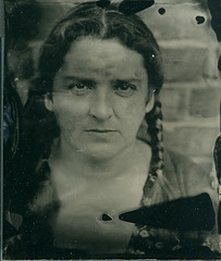 Niki 2 - Ambrotype (Casey Carlin) Tags: glass plate naturallight wetplate historical technique 5x4 wista ambrotypes