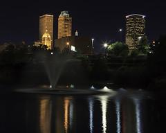Centennial Park Reflections (Bill_Oswald) Tags: oklahoma skyline reflections tulsa afterdark