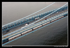 Benjamin Franklin Bridge, Philadelphia (SkylineScenes (Bill Cobb)) Tags: city bridge philadelphia subway downtown pennsylvania centercity rail aerial transit commuter philly septa eastcoast skylinescenes urbanbenjaminfranklin