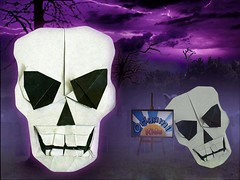 Origami Skull By Quentin Trollip (eng.origami-kids.com) Tags: quentintrollip origamiskull origamikids