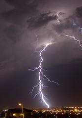 Lightningoverpocatello (Rando101) Tags: city sky storm rain night clouds lights bolt strike lightning