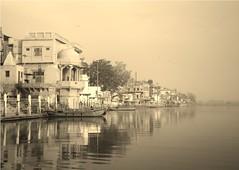 The Yamuna at Mathura (mala singh) Tags: india water reflections river ghats mathura uttarpradesh yamuna