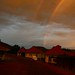 Por-do-sol com direito a dois arco-iris