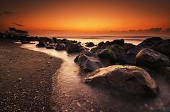 Manyar Stones (eggysayoga) Tags: sea bali seascape motion beach sunrise indonesia landscape nikon day hard wave tokina clear lee graduated leefilter 1116mm manyar d7000