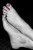 The mark of a man (JustaMonster) Tags: mark pinktoenails odc2 ourdailychallenge themarkofaman anddontsayaretheyyourfeetcausetheyaresteveshehasneatfeet andthesockshewearsrubsawaythosemanlyhairs