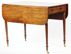 8. Fine 19thc Sheraton Drop Side Table
