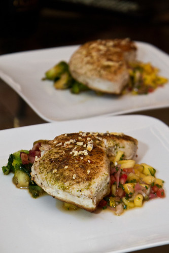 Swordfish - Brussels - Pineapple Slaw