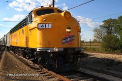 C&NW # 411 (Chris Skrundz) Tags: railroad chicago museum train illinois track diesel weekend union railway commuter locomotive passenger northwestern