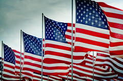 American Flags (photographyguy) Tags: oklahoma stripes americanflag patriotic flags memorialday brokenarrow oldglory