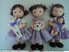 bonecas lilas 015 (sonia mendes2012) Tags: bonecas biscuit com em tecido roupinhas
