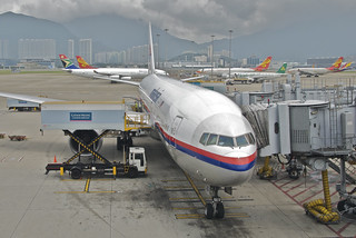 Malaysia Airlines Boeing 777-200ER; 9M-MRD@HKG...