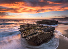Divided From One - Davenport, California (Jim Patterson Photography) Tags: california travel sunset sea summer santacruz beach nature landscape outdoors photography coast shoreline scenic coastal shore davenport holeinthewall jimpattersonphotography jimpattersonphotographycom seatosummitworkshops seatosummitworkshopscom