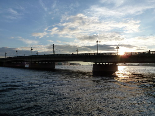 Gießereibrücke in der Abendsonne