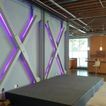 RGB stage backlight I installed at Cross Campus