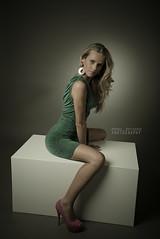 Your green dress (Andrea Rapisarda) Tags: portrait people test woman girl beauty face fashion studio square mujer model eyes nikon gente femme moda occhi blonde ritratto softbox viso bellezza ragazza d800 greendress bionda modella